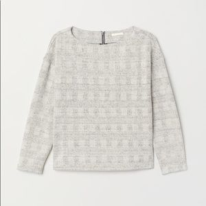 H&M women's sweater size large checked